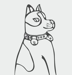 abstract cartoon dog vector image