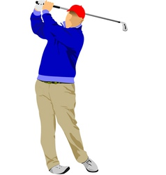 al 0916 golf01 vector image