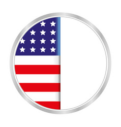 american flag symbol in a circle vector image