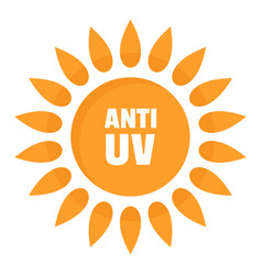 anti uv logo flat style vector image