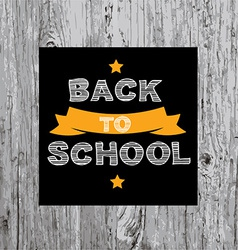 Back to school poster design vector