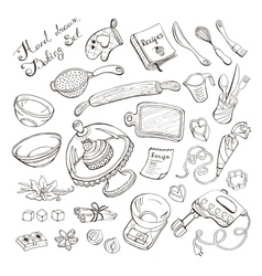 Baking doodle collection vector