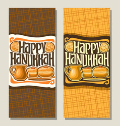 banners for hanukkah vector image