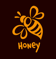 Bee icon pretty bee logo image vector