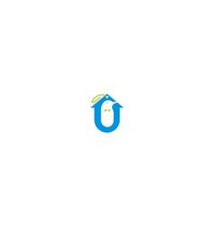 bird logo tag icon vector image