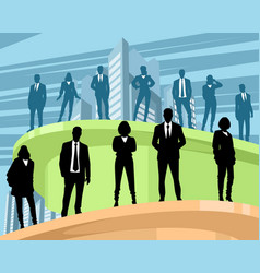 Business people at different levels vector