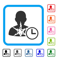 Cancer patient time framed icon vector