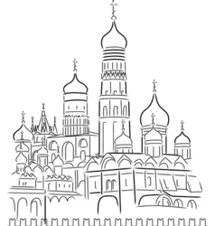 cathedral of saint basil vector image