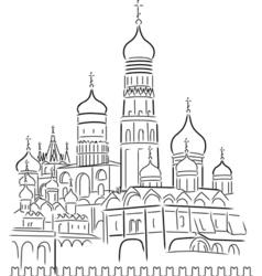 Cathedral saint basil vector