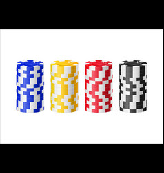 chips columns cartoon style isolated vector image