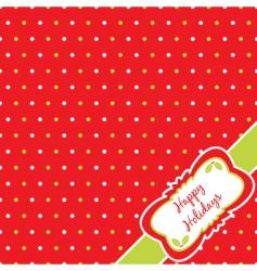 Christmas polka dot vector image