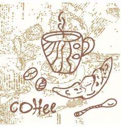 coffee grunge vector image