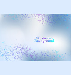 colorful graphic background molecule and vector image