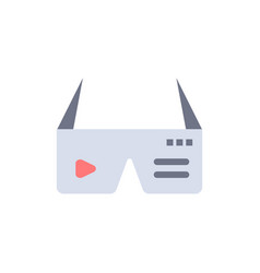 Computer computing digital glasses google flat vector