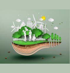 concept of eco vector image