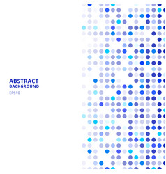 creative design templates abstract blue random vector image