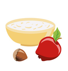 Dietary food food for lent time a bowl of vector