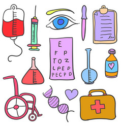 Doodle of medical object vector