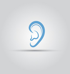 Ear isolated medical logo template vector