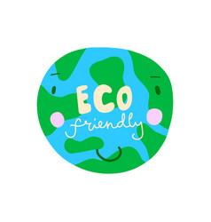 eco friendly concept earth day concept world vector image