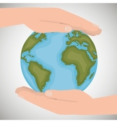 Environmental protection save the world vector