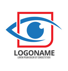 eye logo design template modern minimal vector image