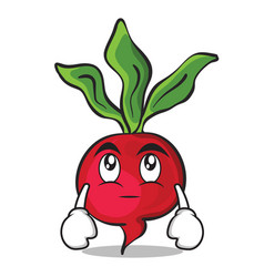 Eye roll radish character cartoon collection vector