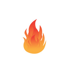 fire icon logo design element vector image