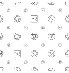 forbidden icons pattern seamless white background vector image