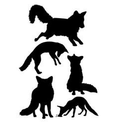 Fox mammal animal silhouette vector