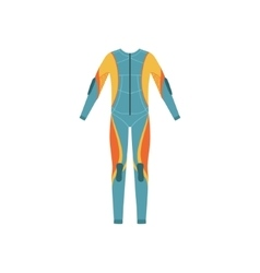 Full Body Neoprene Diving Suit Without A Hood vector