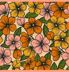 hand drawn floral abstract pattern creative vector image