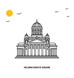 Helsinki senate square monument world travel vector