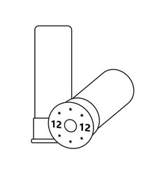 icon of ammo from hunting gun vector image