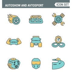 Icons line set premium quality of autoshow and vector image