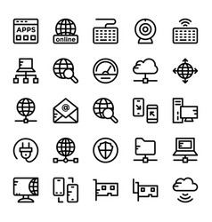 Internet icons 4 vector