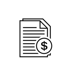invoice line icon in flat style vector image