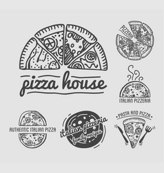 Italian authentic pizza house with family recipes vector