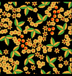 khokhloma seamless pattern in russian tradition vector image