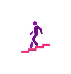 Man stairs Icon vector
