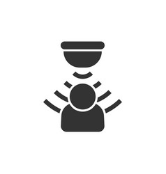 Motion sensor icon in flat style sensor waves vector