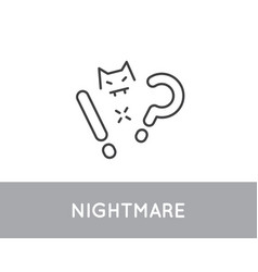 nightmare or insomnia linear icon sleep vector image