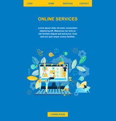 online service shopping in internet vector image