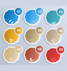 paper circles with icons vector image