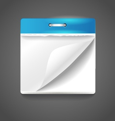 Paper diary vector