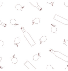pattern with vinegar vector image