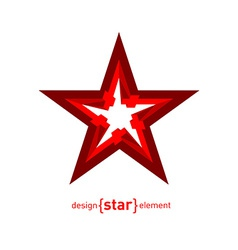 Perspective Star abstract design element vector