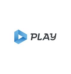 play logo music digital video movie player vector image