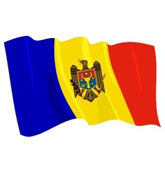 political waving flag of moldova vector image