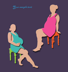 Pregnant woman isolated symbol vector